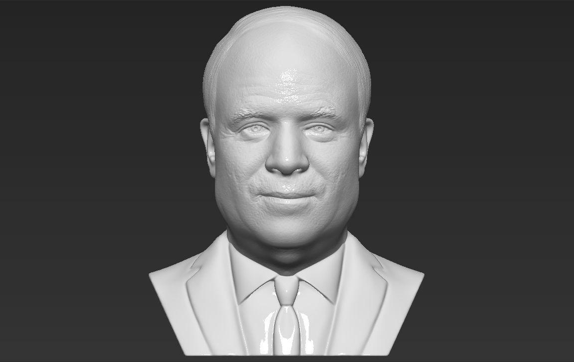 John McCain bust 3D printing ready stl obj formats