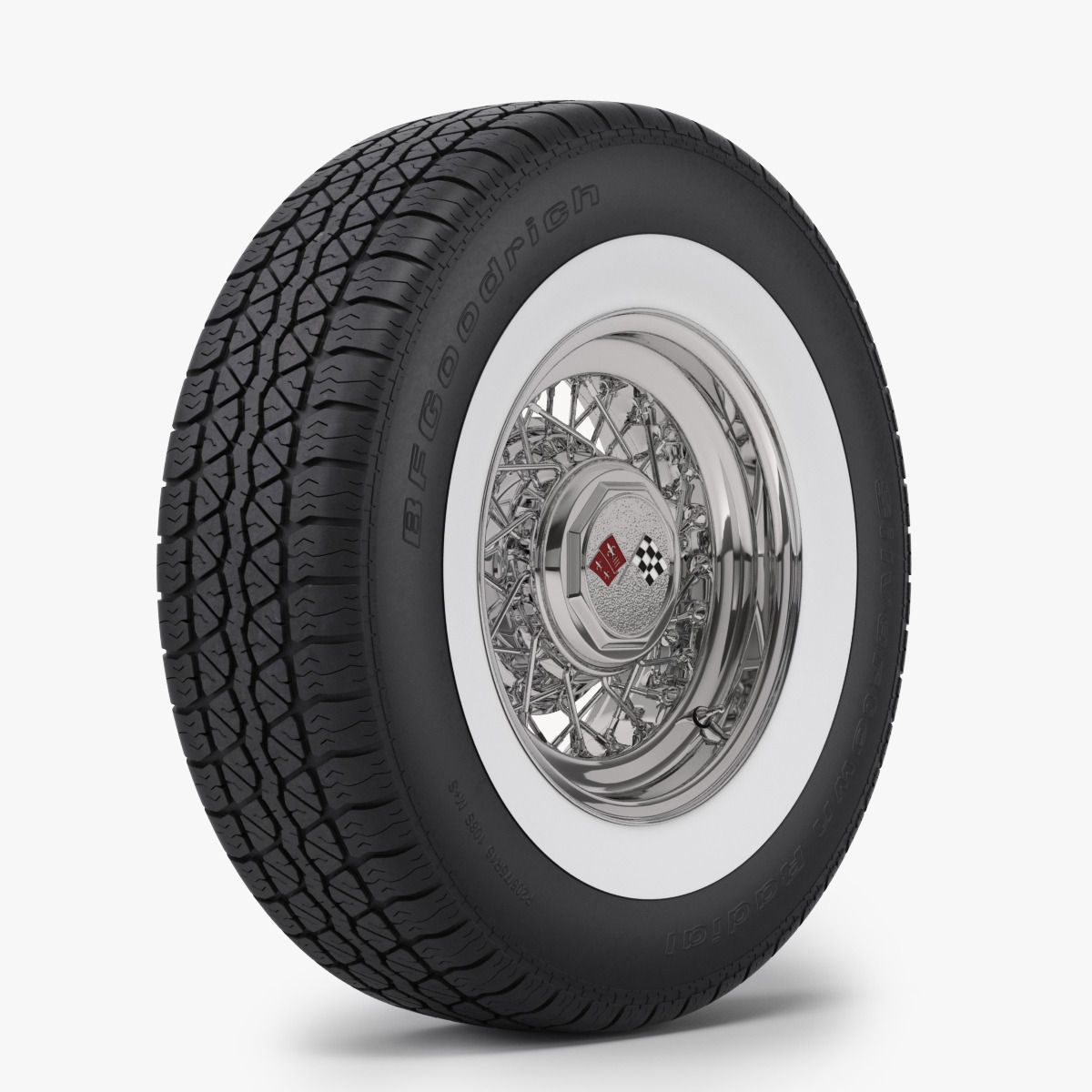 3D Classic Wire Wheel and Tire BFG | CGTrader