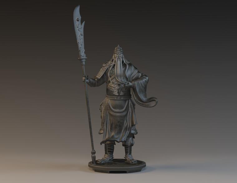 Guan Yu  General Samurai trikru characters 3D printed
