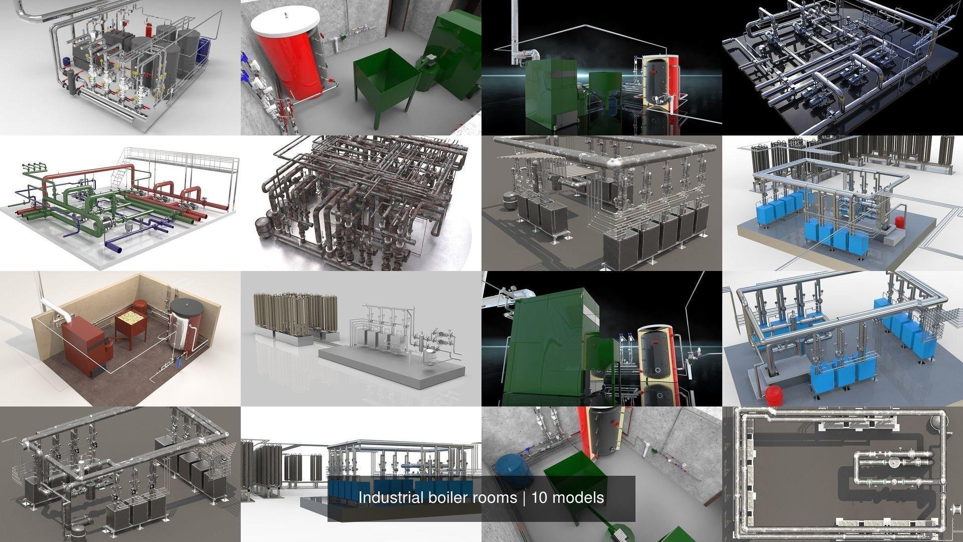 Industrial boiler rooms