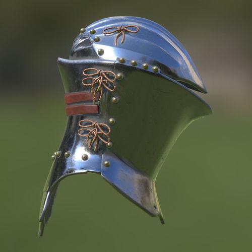 frog-mouth helm 3d model low-poly obj mtl 3ds fbx blend dae 1