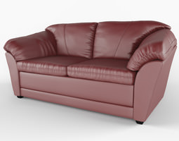 chair 3D model Leather sofa