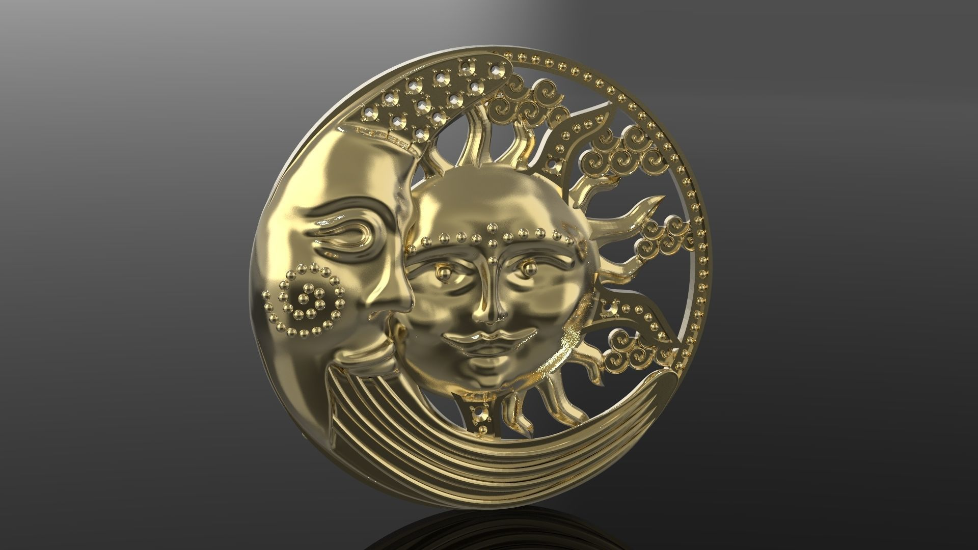 Sun and Moon pendant