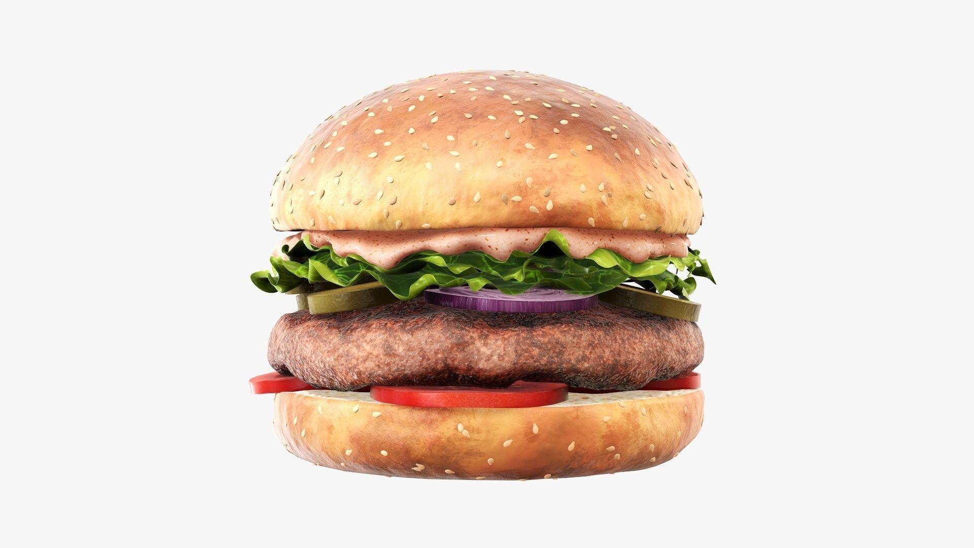 Fast food hamburger 02