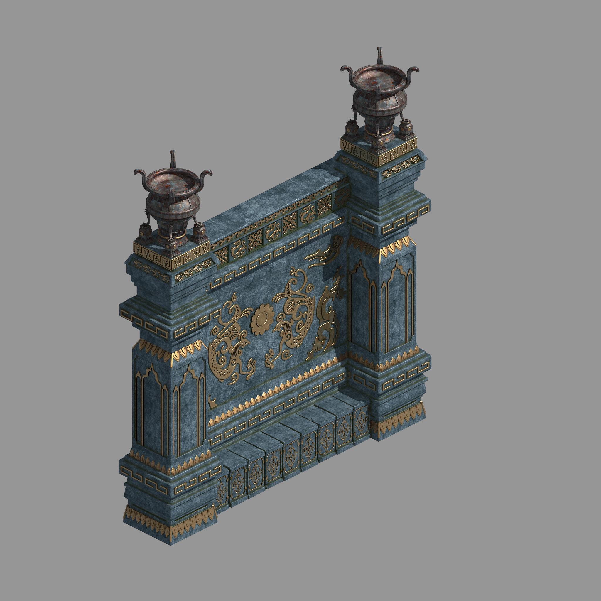Zhentian Palace-Statue Wall