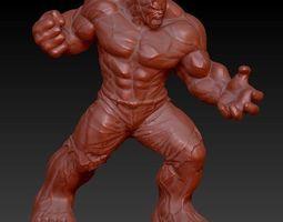 incredible hulk zbrush sculpt 3d model obj