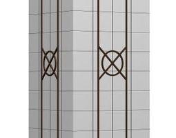 architecture 3D model Square column