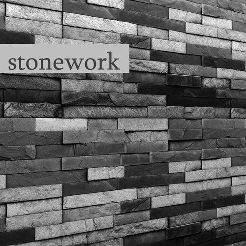 stone wall slate 3d model max obj mtl fbx unitypackage prefab 1