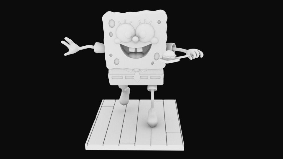 Sponge Bob separeted parts for 3D printing STL