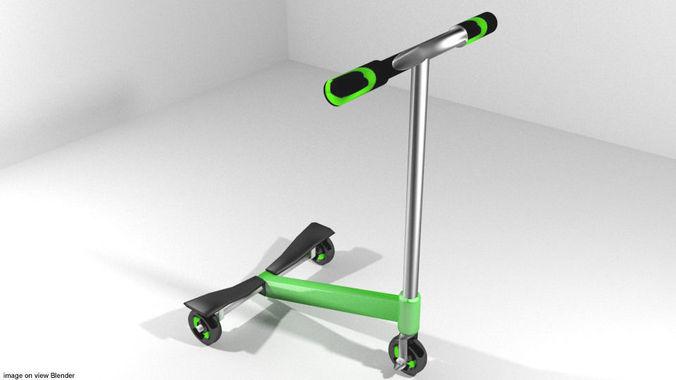 scooter type 3 3d model obj mtl 3ds lwo lw lws blend dae 1