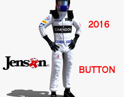 jenson button 2016 3d asset game-ready rigged