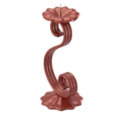 flower shaped candleholder 3d model obj mtl fbx stl blend dae 1