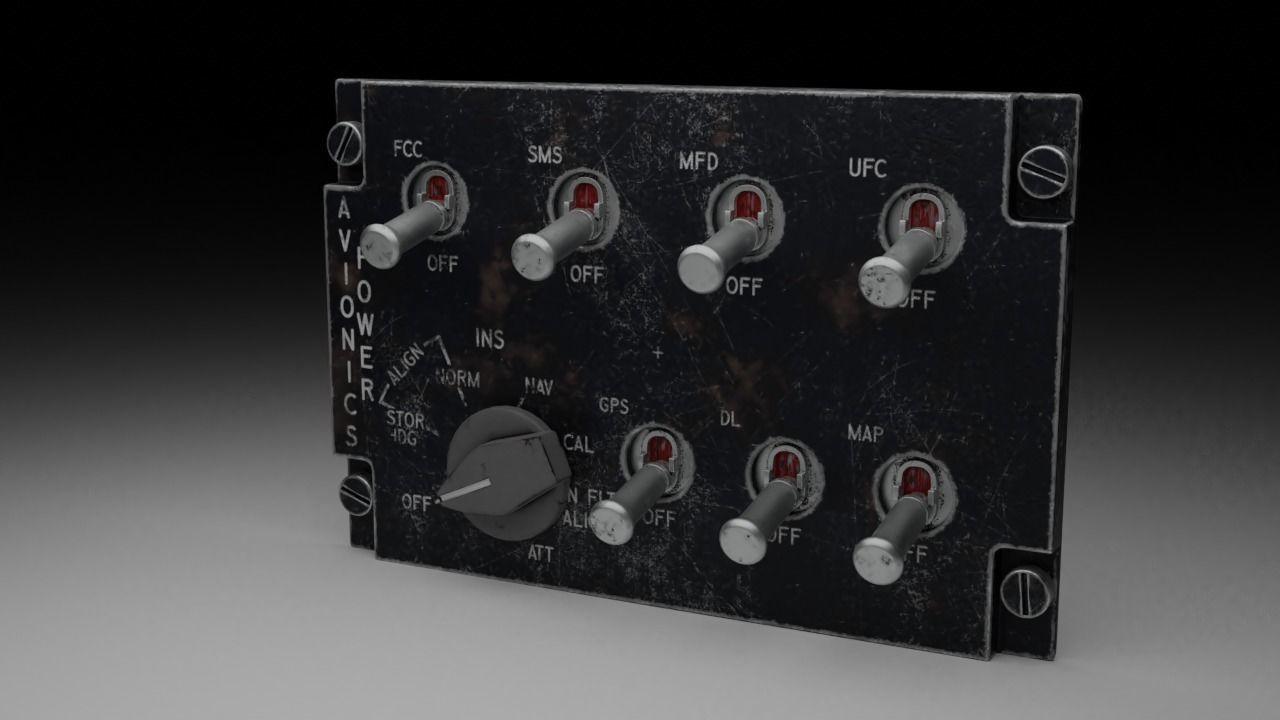 F16 AVIONICS Panel