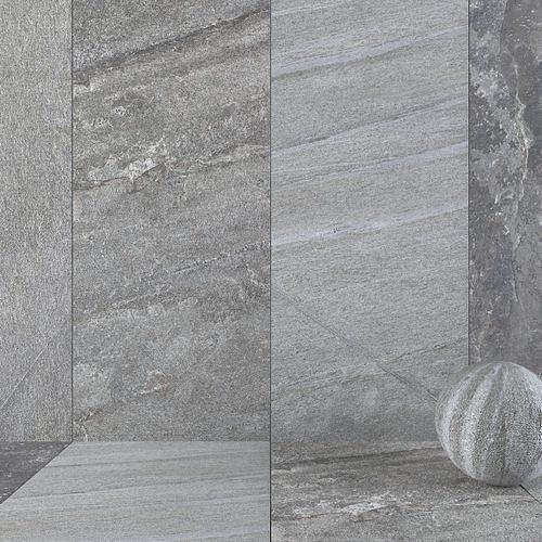 Stone Wall Tiles Santorini Grey 120x270 Set 2