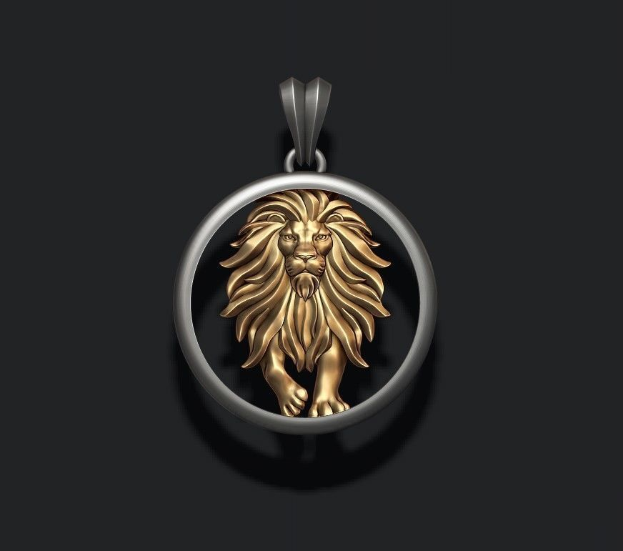 Horoscope Lion pendant
