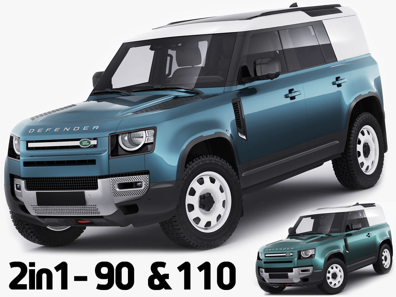 Land Rover Defender Hard Top 110 and 90