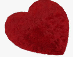 carpet heart red 3d model