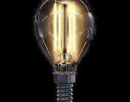 LED Filament Bulb 10 3D Model