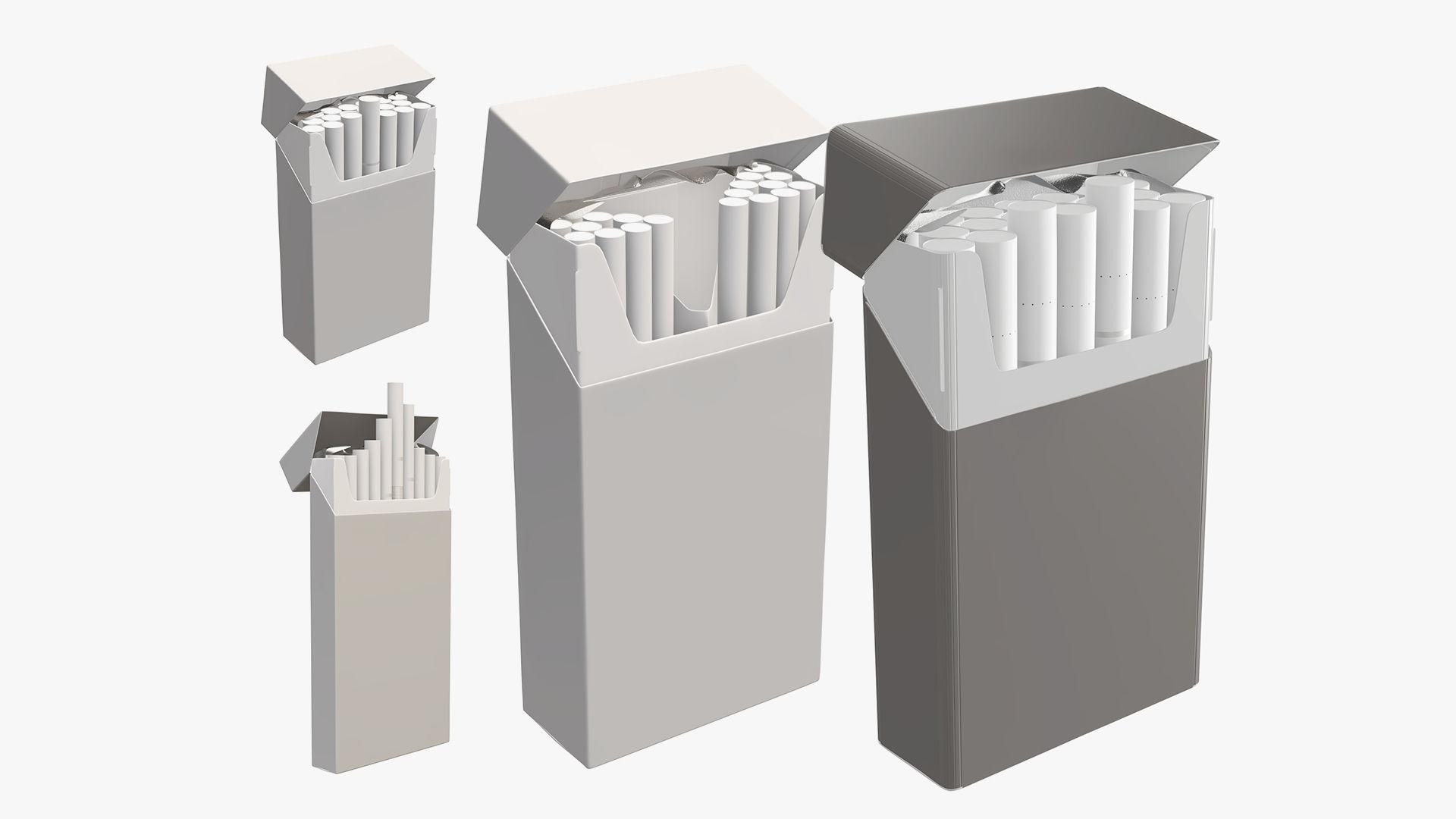cigarette pack open super slim compact open mock-up
