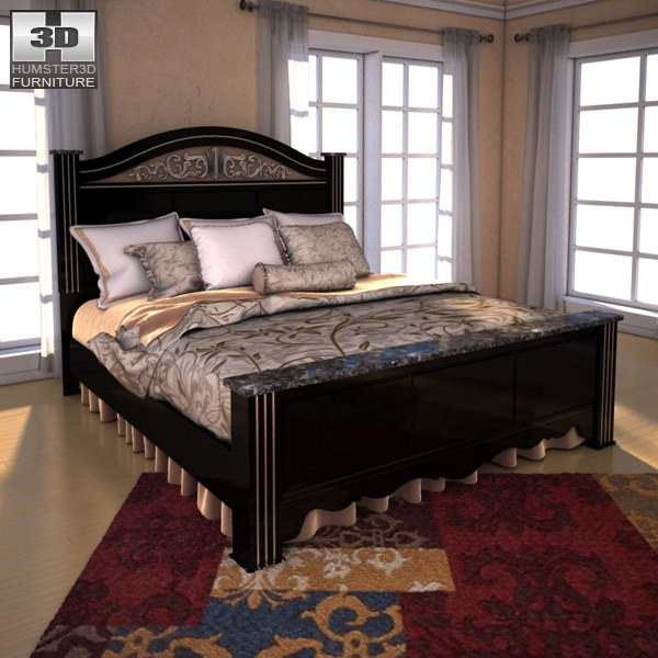 3D model Ashley Constellations Poster Bedroom Set VR / AR / low ...