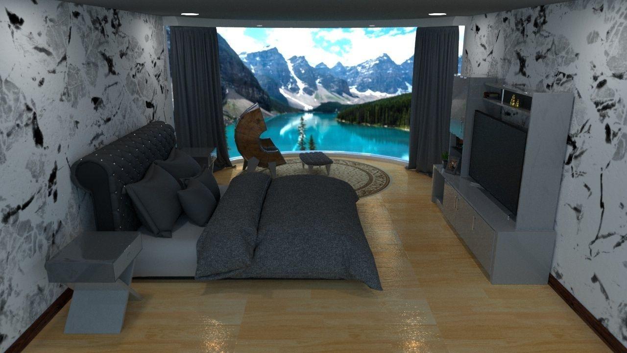 Bedroom interior 3d model in Maxon 4d Cinema r 20