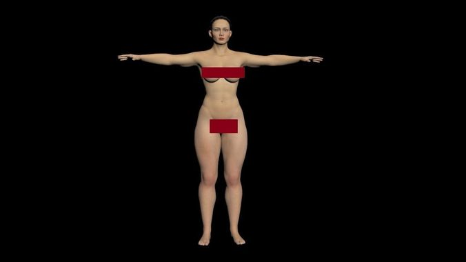 Female Nude Gymnast 89