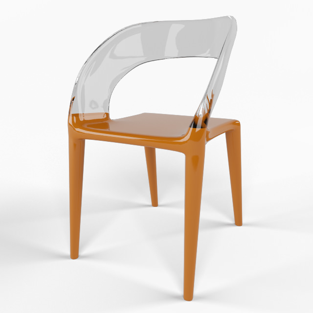 Chair designer philippe starck 3d model max for Philippe starck chair