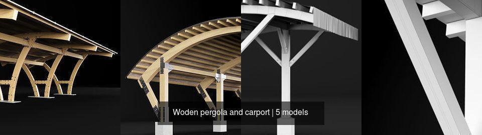 Woden pergola and carport