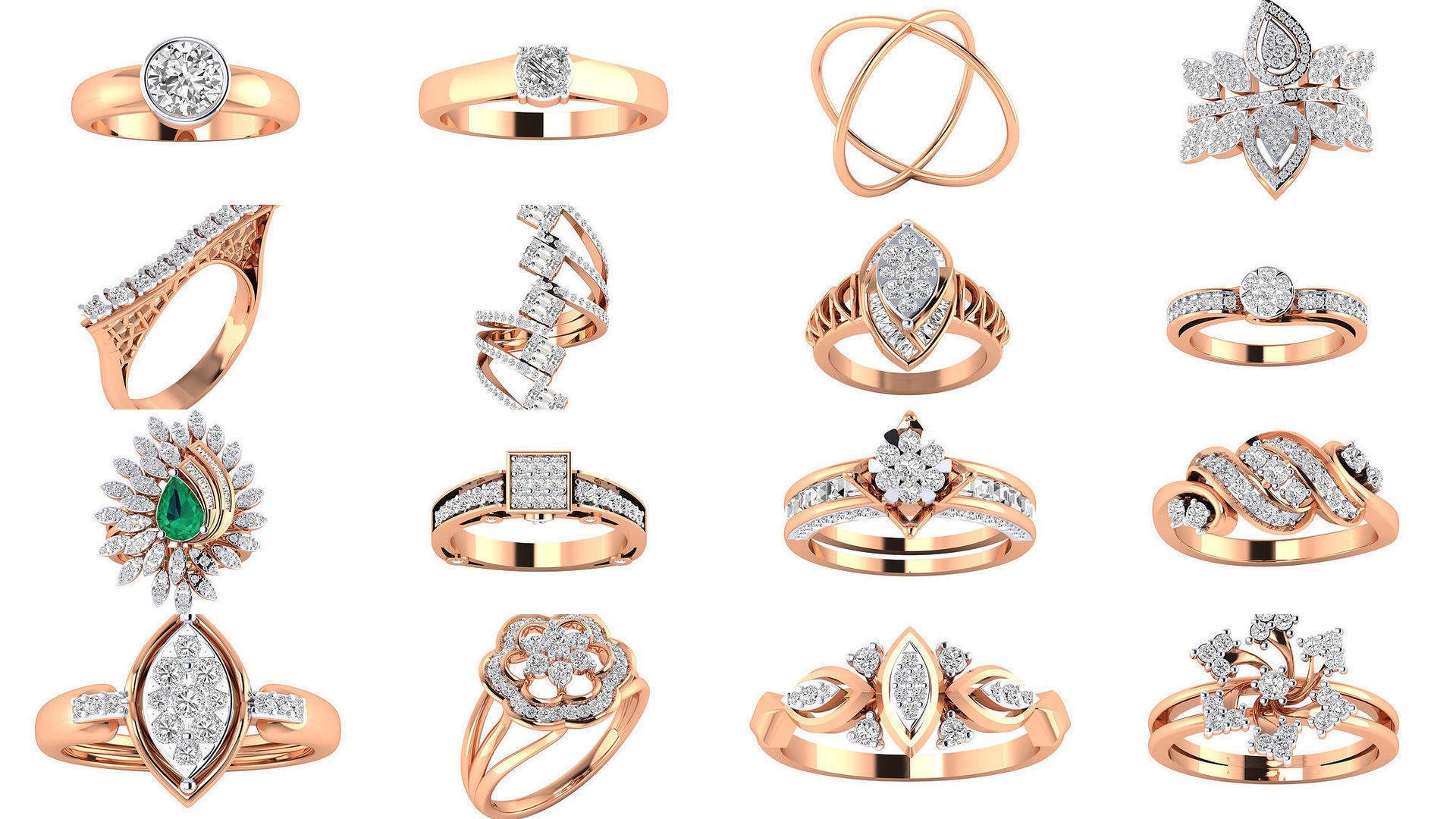 480 Women ring 3dm render 3D print model