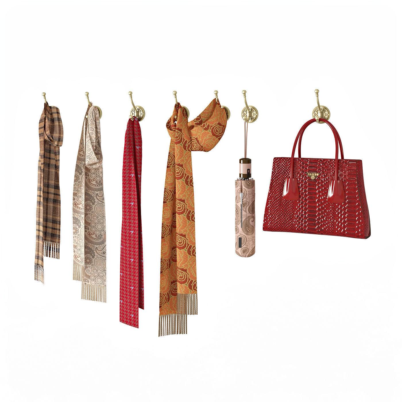 Hallway set scarf-bag-umbrella