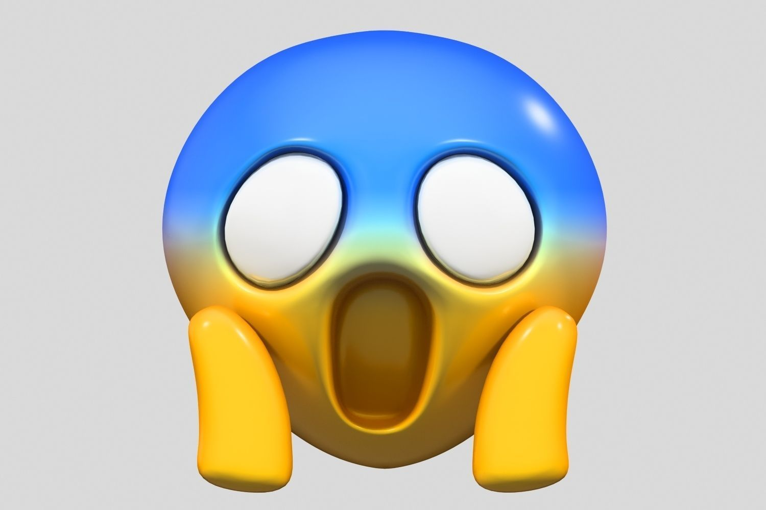 Emoji Face Screaming in Fear