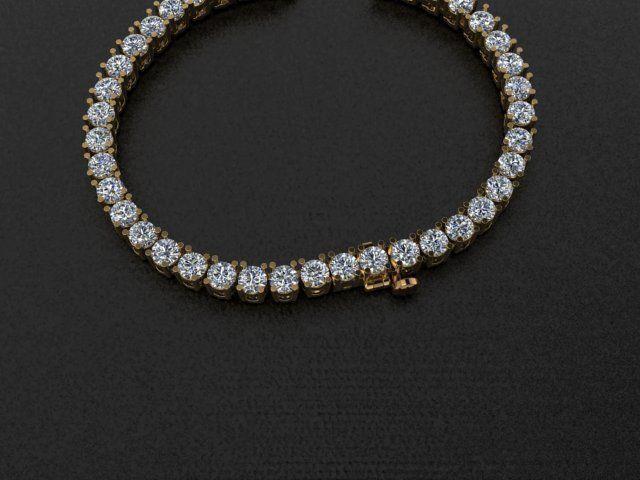 Diamond Tennis Necklace Links 3mm