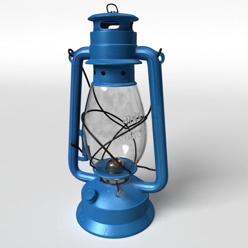 High Details Hurricane Oil Lamp 3d Model Max Fbx Ma Mb ...