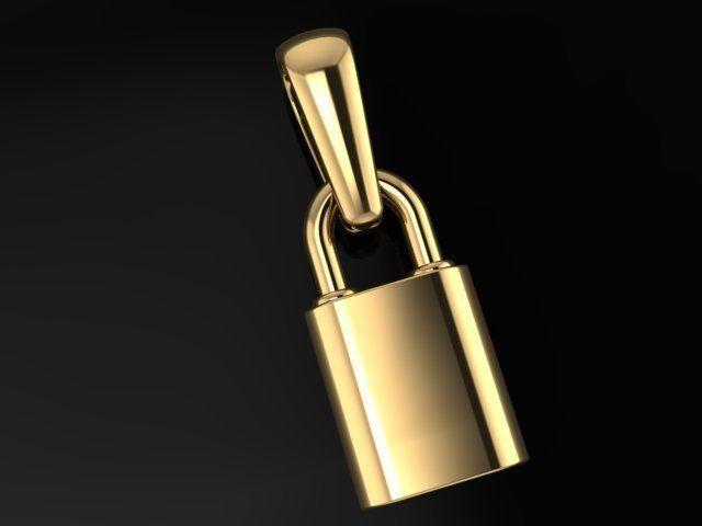 Dainty Lock Pendant