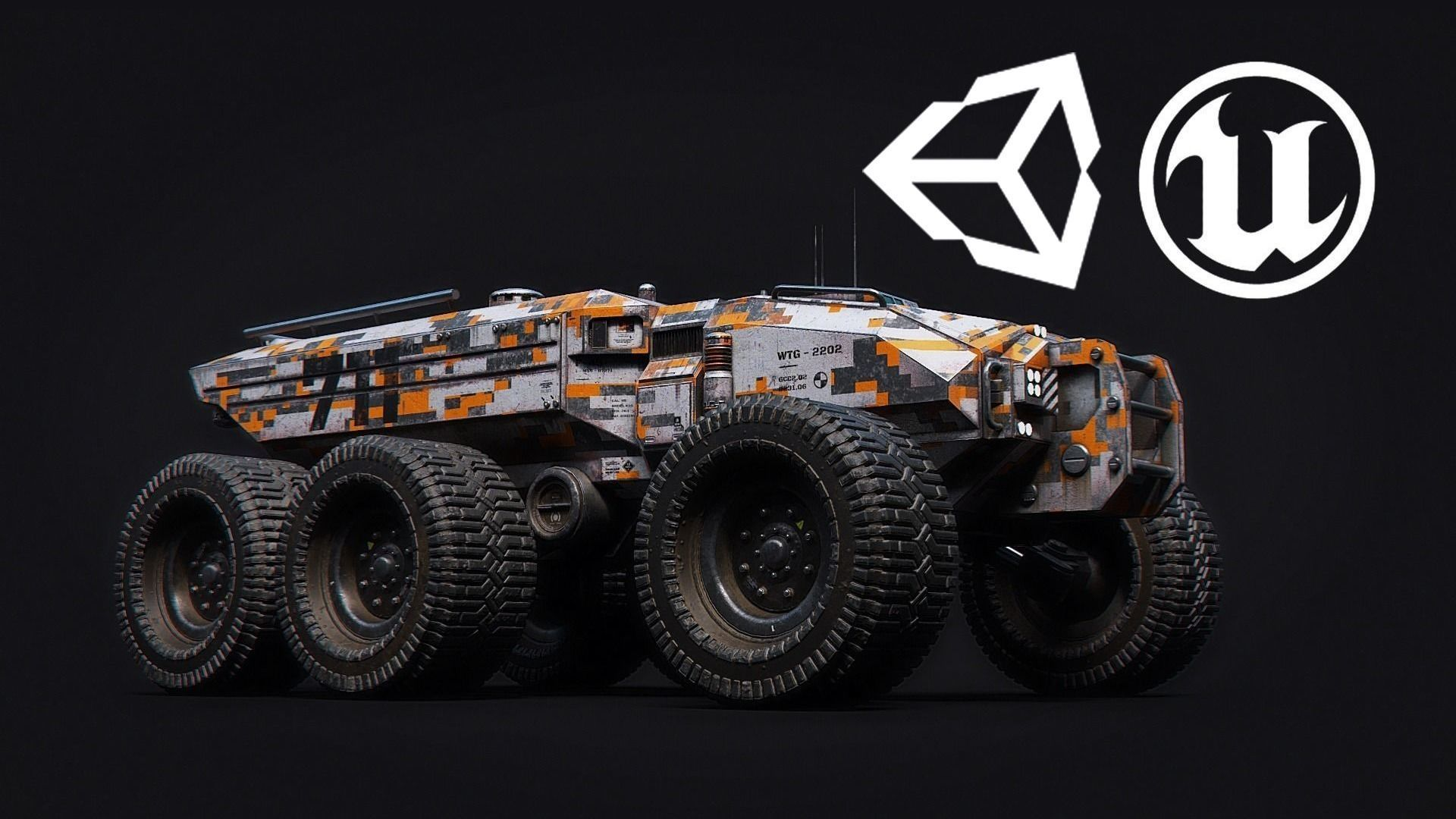 Technical Vehicle Unreal Engine Rigged UE4  8K Textures