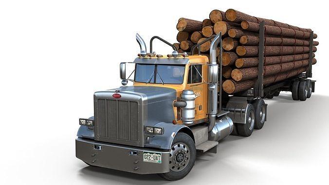 Peterbilt 359 log trailer