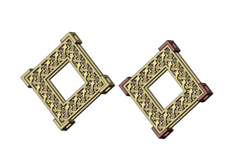 Moucharabieh box pendant