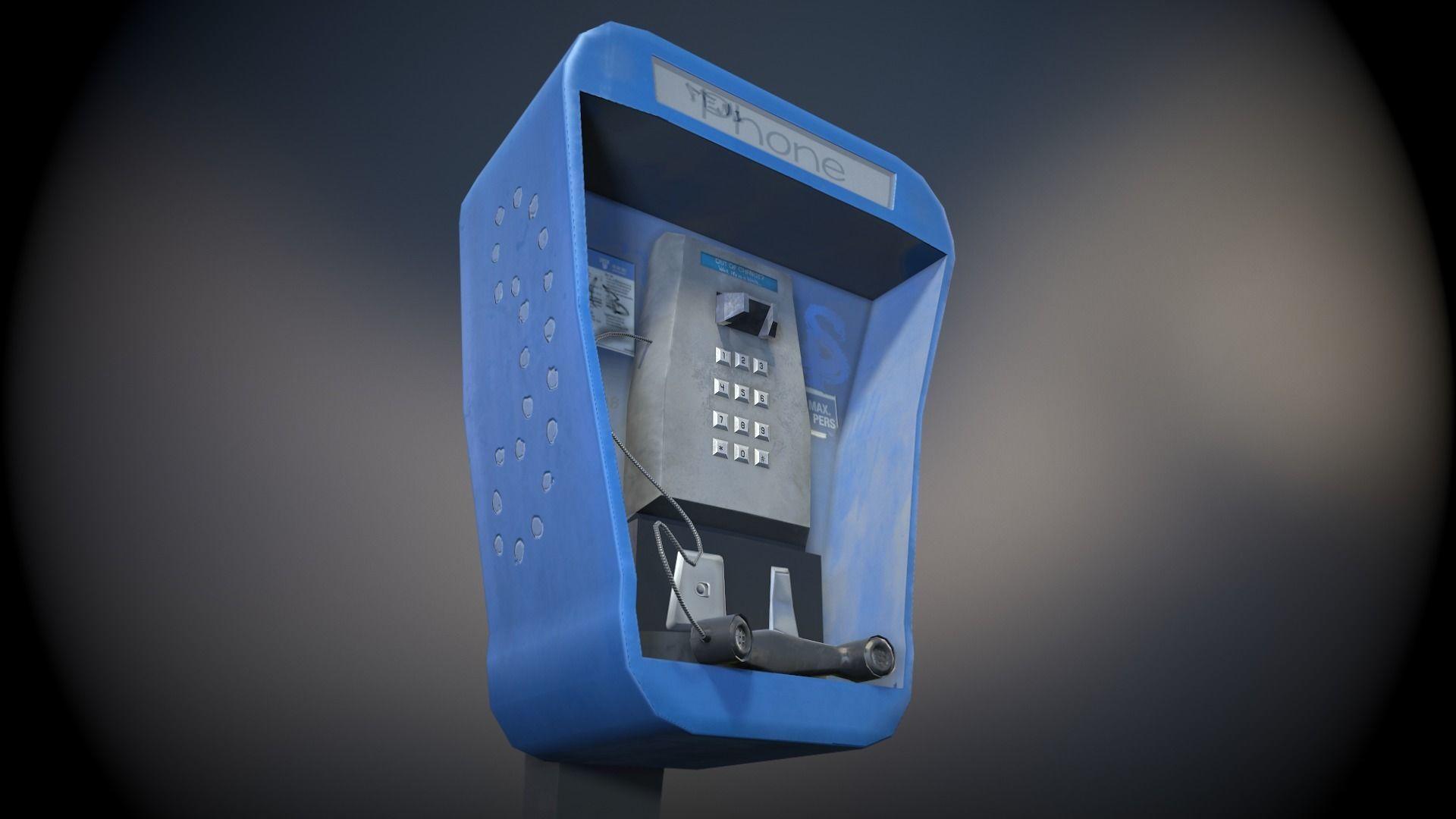 Stylized Payphone