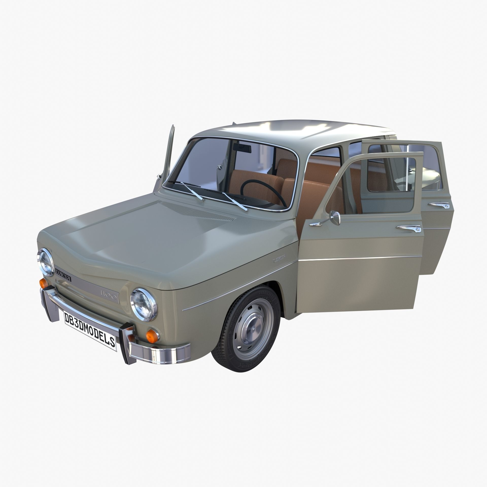 Dacia 1100 with interior Gray