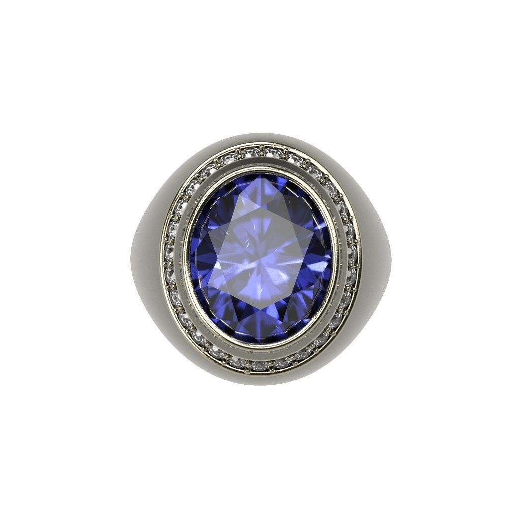Signet Ring Bid Polished Ring Oval Gem 12x10 All Size