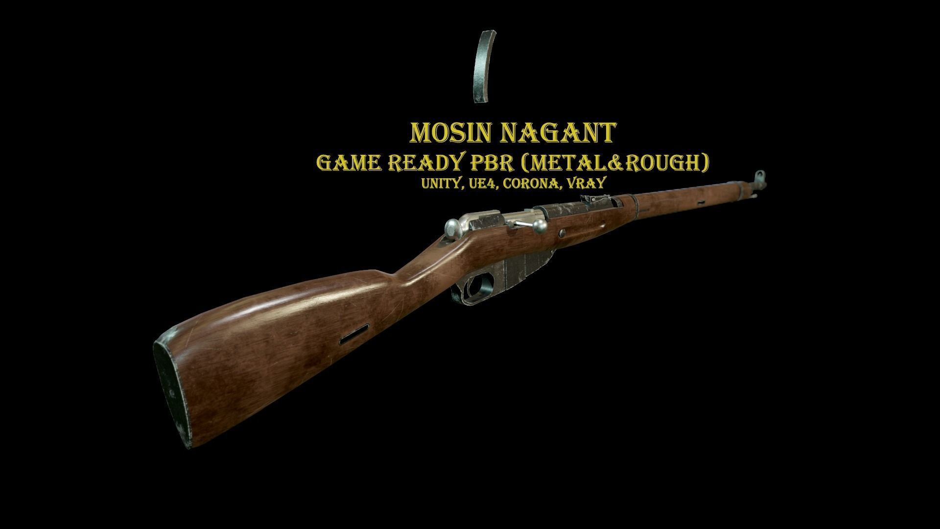Mosin Nagant Rifle scratched