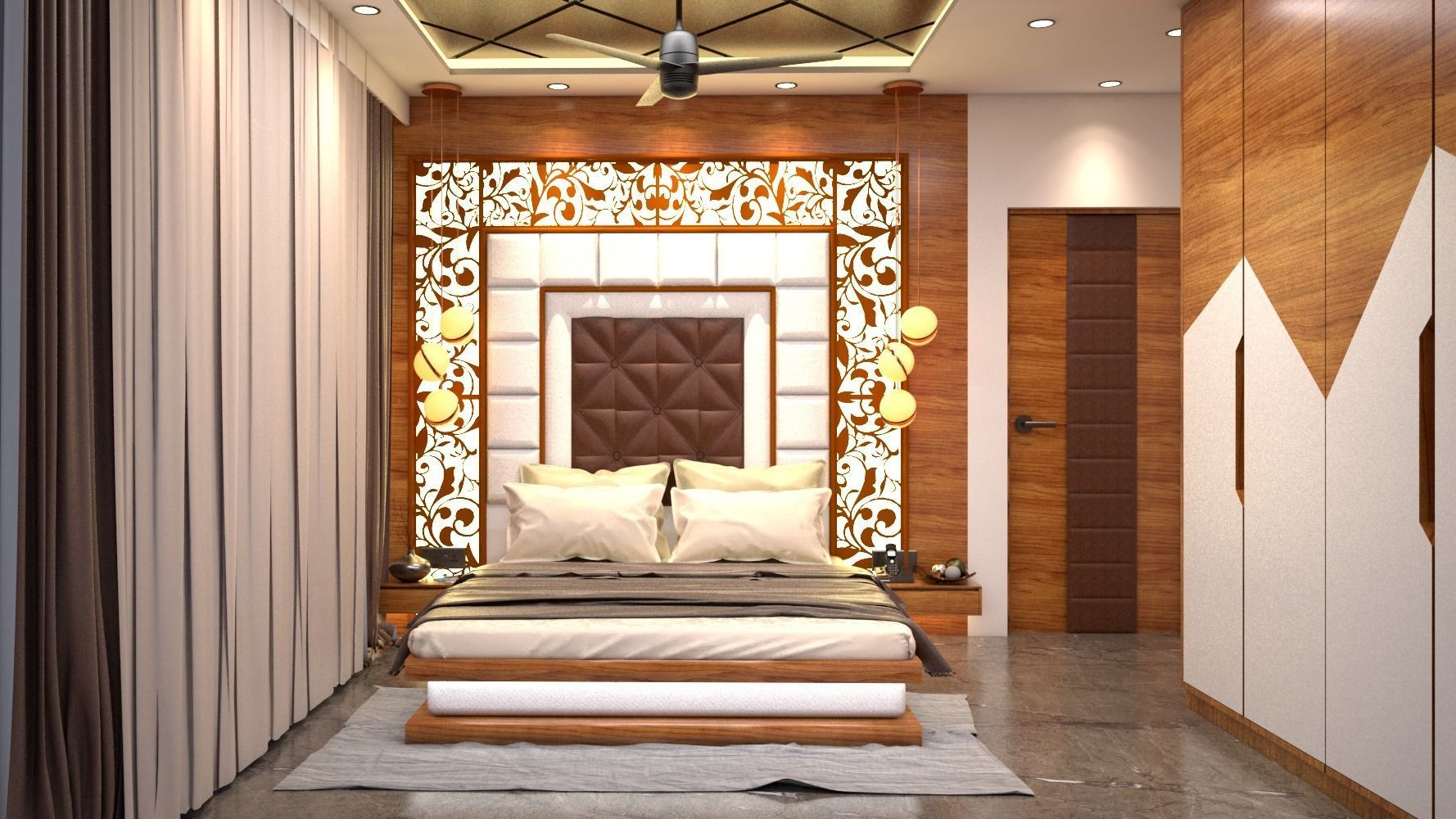 Interior Flat Design- Master bedroom