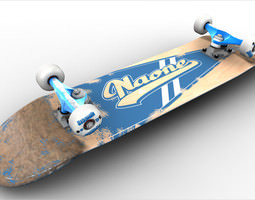 low-poly naone skateboard 3d model