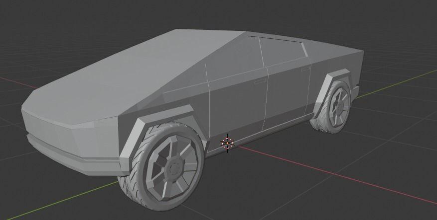 3D model VR / AR ready Tesla Cyber truck | CGTrader