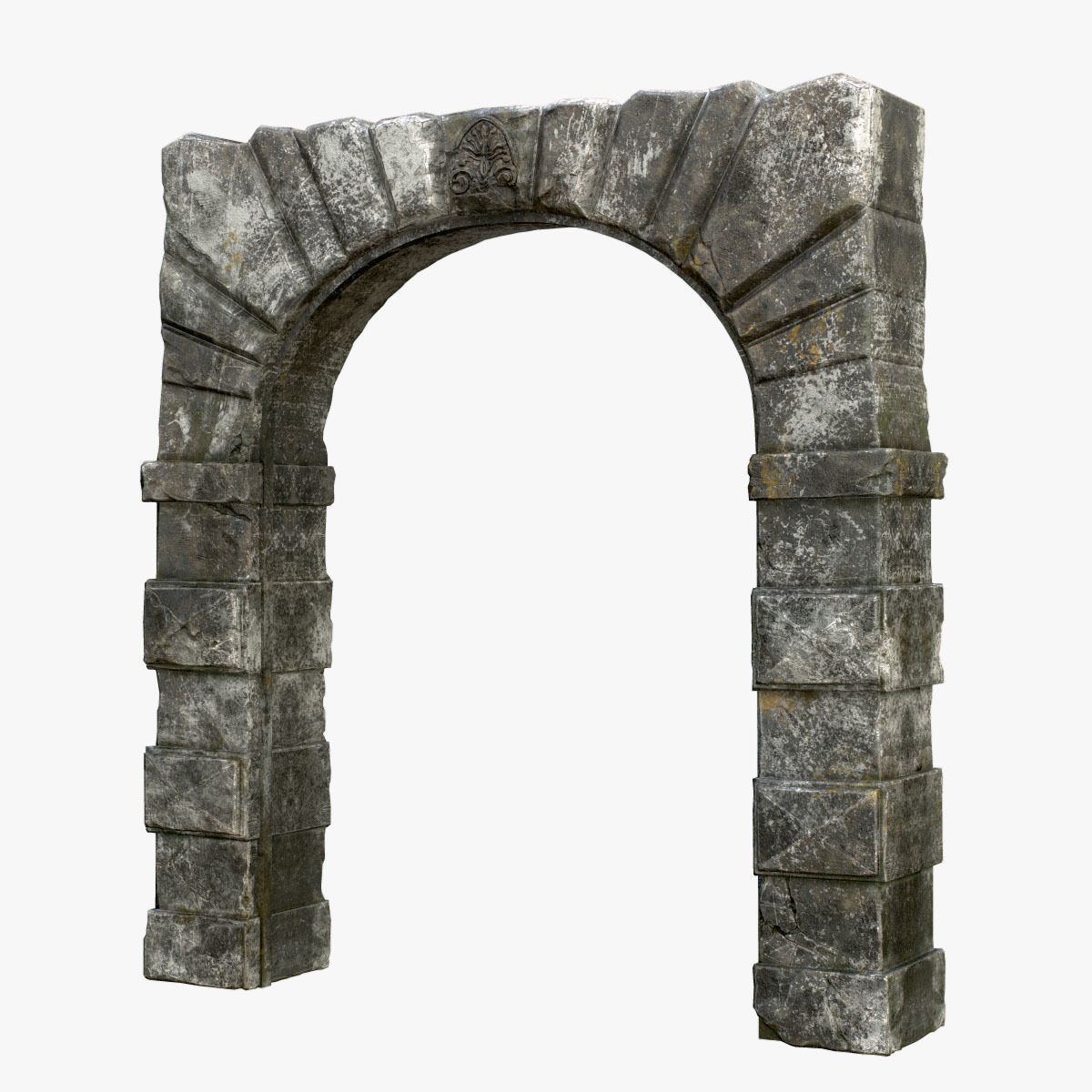 Medieval Fortress Stone Arch
