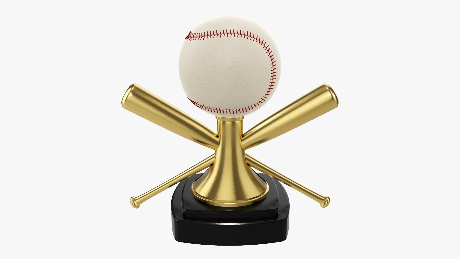 Trophy baseball ball and bats