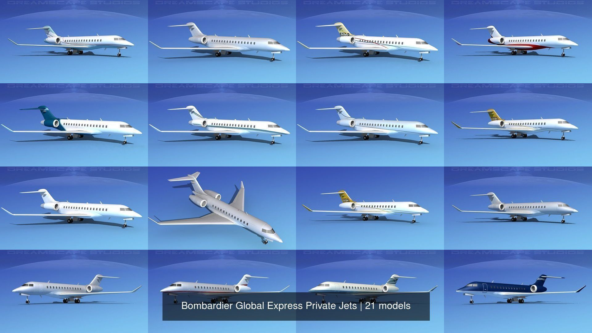 21 Bombardier Global Express Private Jets