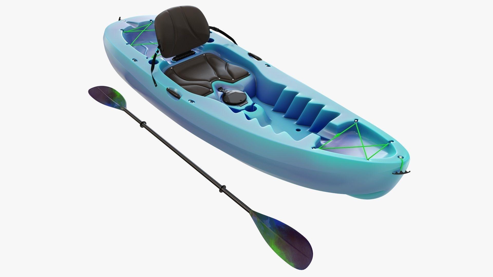 Kayak 02 and paddle
