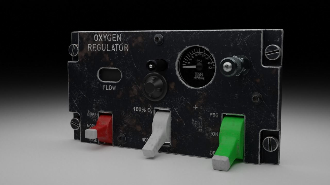 F16 Oxygen Regulator Panel