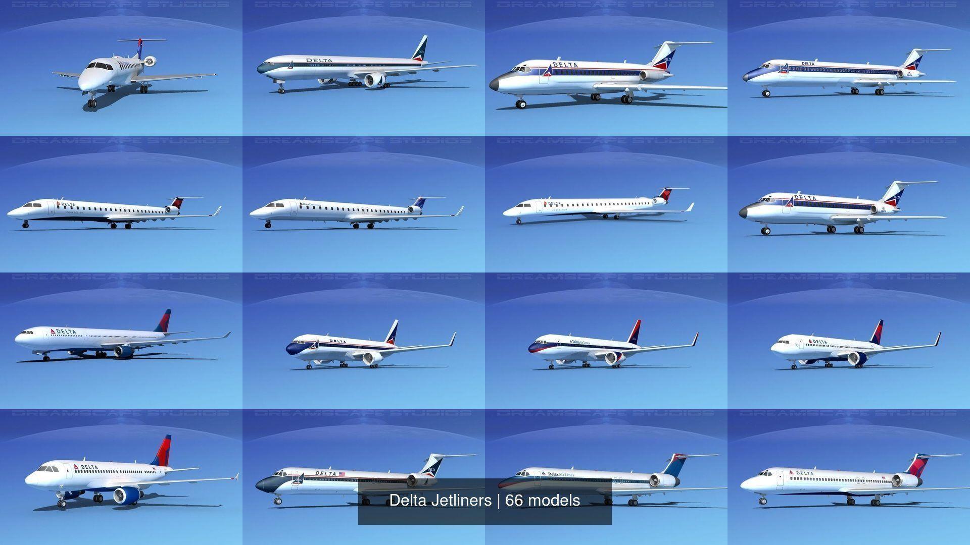 66 Delta Jetliners